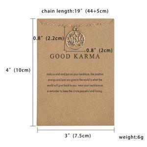 Good Krama Pendant Choker Necklace Gold Plated